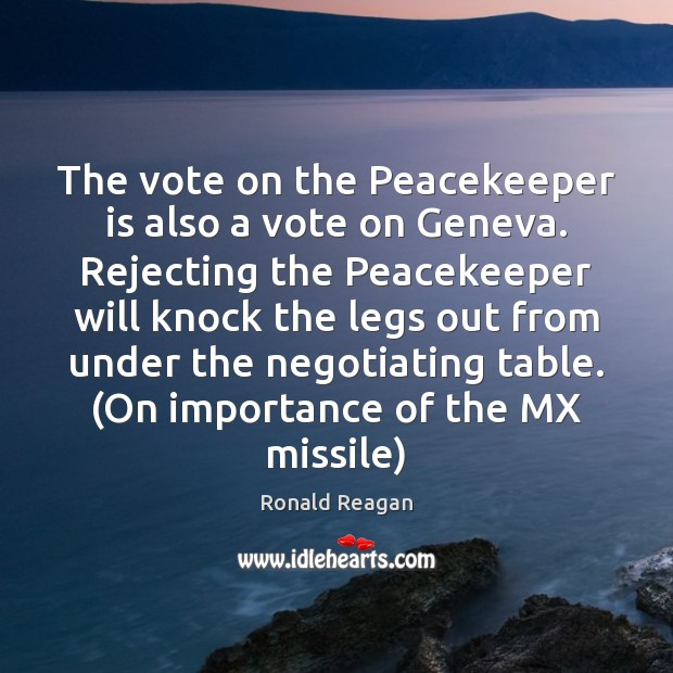 Image, The vote on the Peacekeeper is also a vote on Geneva. Rejecting
