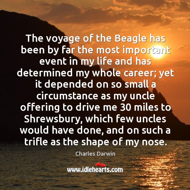 Image, The voyage of the Beagle has been by far the most important