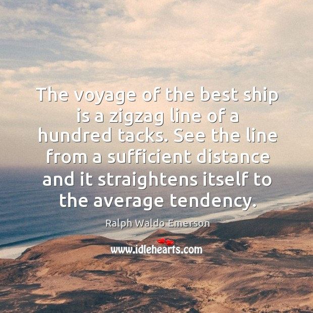 The voyage of the best ship is a zigzag line of a Image