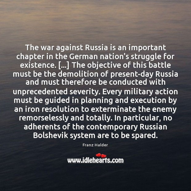 Image, The war against Russia is an important chapter in the German nation's