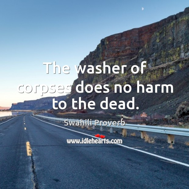 Image, The washer of corpses does no harm to the dead.