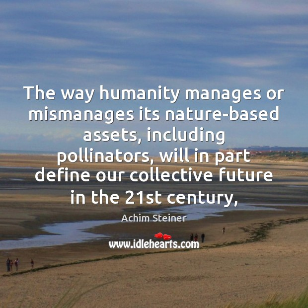 Image, The way humanity manages or mismanages its nature-based assets, including pollinators, will