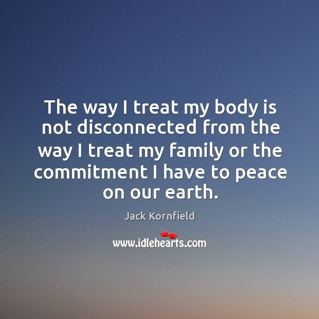 The way I treat my body is not disconnected from the way Image