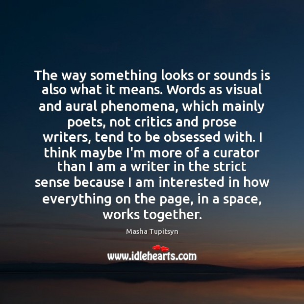 Image, The way something looks or sounds is also what it means. Words
