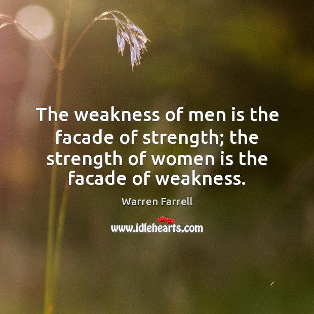 The weakness of men is the facade of strength; the strength of Image