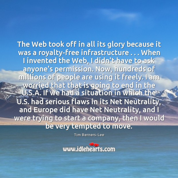 The Web took off in all its glory because it was a Image