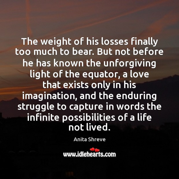 Image, The weight of his losses finally too much to bear. But not