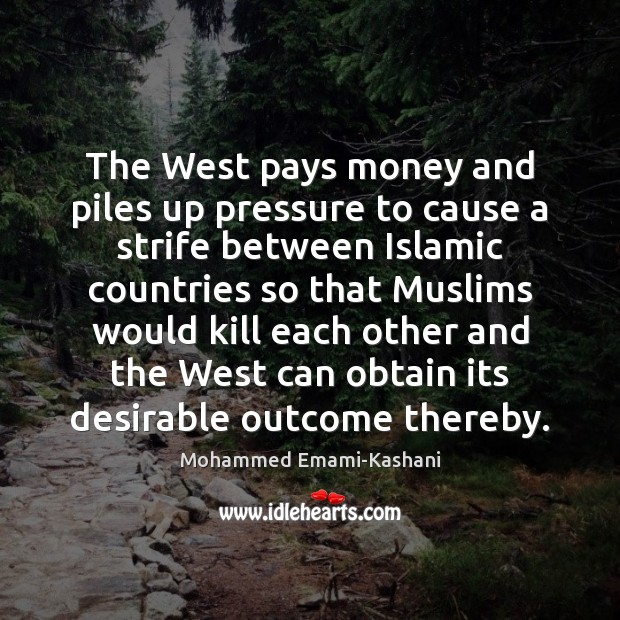 The West pays money and piles up pressure to cause a strife Image