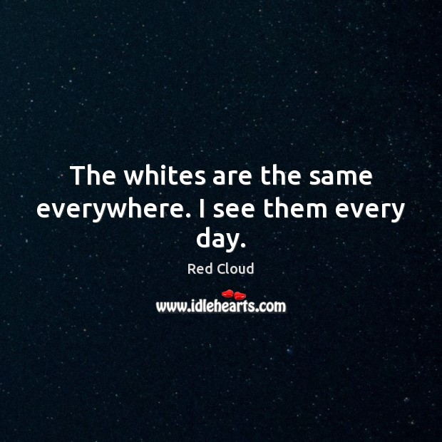 The whites are the same everywhere. I see them every day. Image