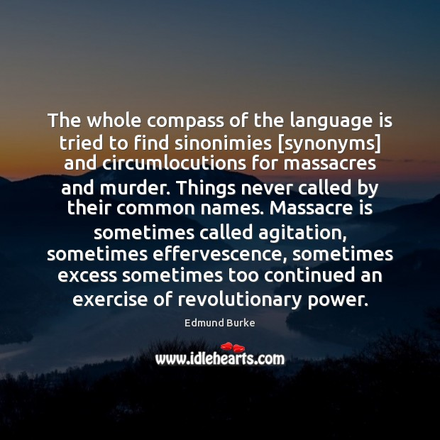 The whole compass of the language is tried to find sinonimies [synonyms] Image