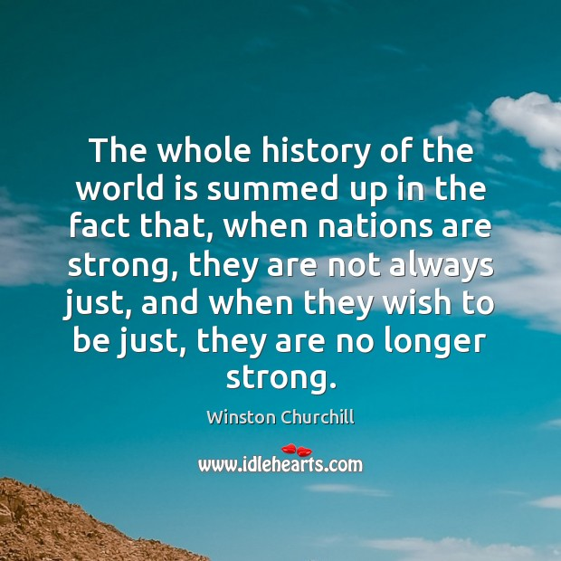 Image, The whole history of the world is summed up in the fact