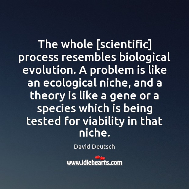 The whole [scientific] process resembles biological evolution. A problem is like an Image