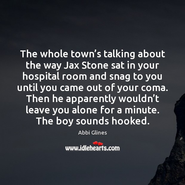The whole town's talking about the way Jax Stone sat in Image