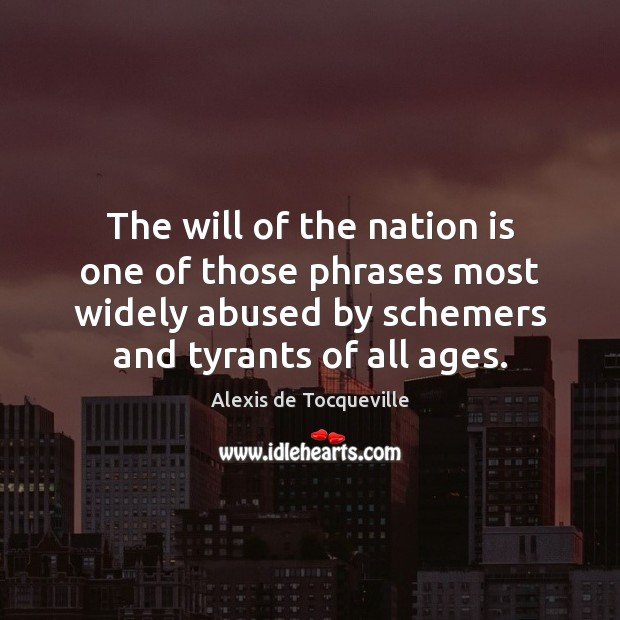 Image, The will of the nation is one of those phrases most widely