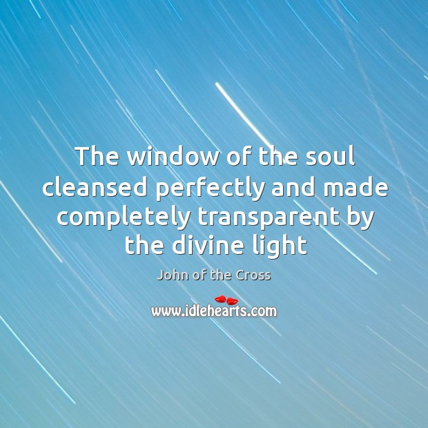 The window of the soul cleansed perfectly and made completely transparent by Image