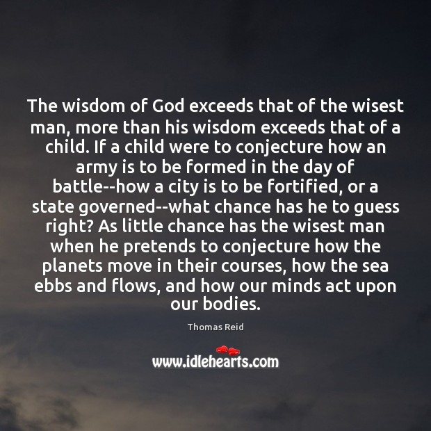 The wisdom of God exceeds that of the wisest man, more than Image