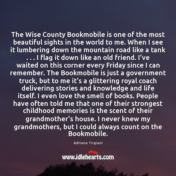 Image, The Wise County Bookmobile is one of the most beautiful sights in