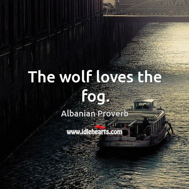 The wolf loves the fog. Albanian Proverbs Image
