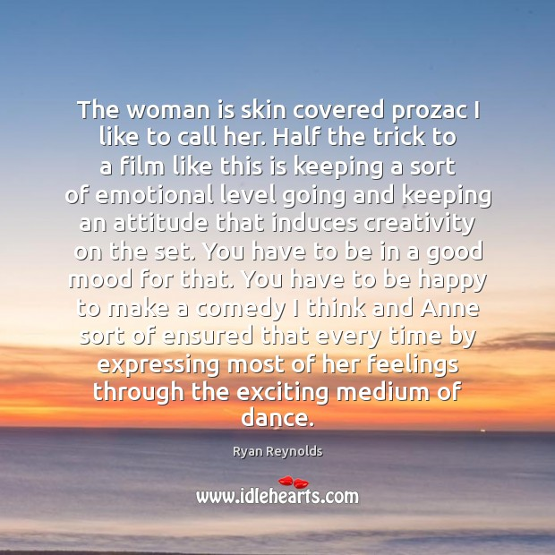 The woman is skin covered prozac I like to call her. Half Image