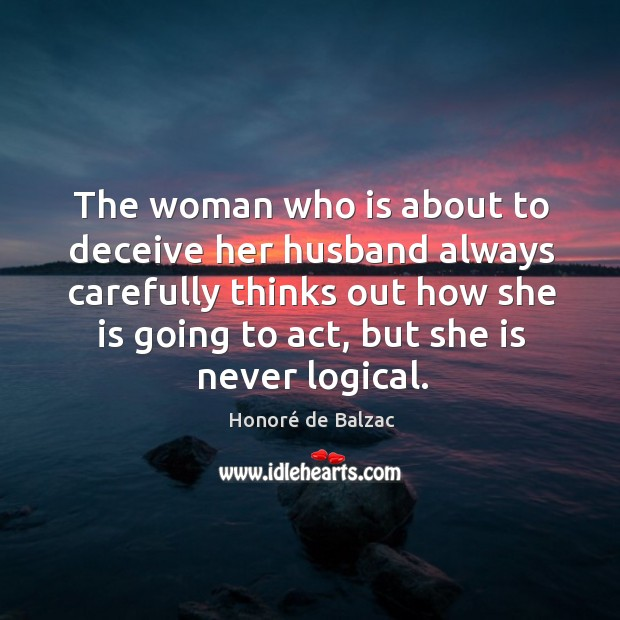 Image, The woman who is about to deceive her husband always carefully thinks