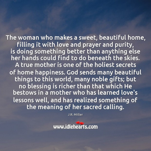 Image, The woman who makes a sweet, beautiful home, filling it with love