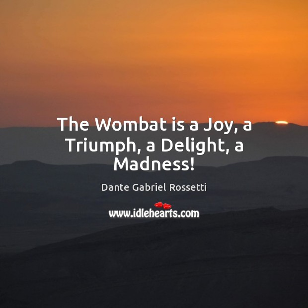 The Wombat is a Joy, a Triumph, a Delight, a Madness! Image
