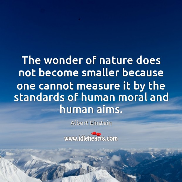 Image, The wonder of nature does not become smaller because one cannot measure