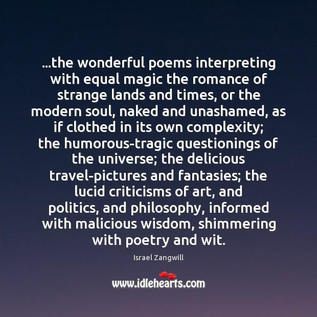 …the wonderful poems interpreting with equal magic the romance of strange lands Image