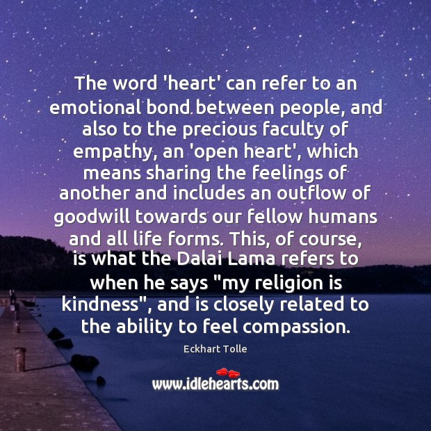 The word 'heart' can refer to an emotional bond between people, and Image