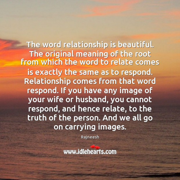 Image, The word relationship is beautiful. The original meaning of the root from