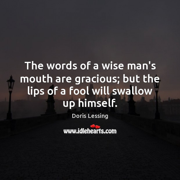 Image, The words of a wise man's mouth are gracious; but the lips