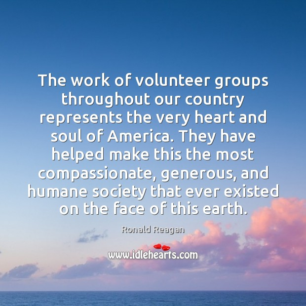 Image, The work of volunteer groups throughout our country represents the very heart