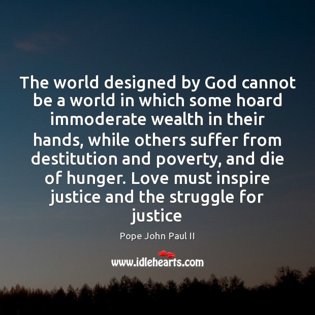 Image, The world designed by God cannot be a world in which some