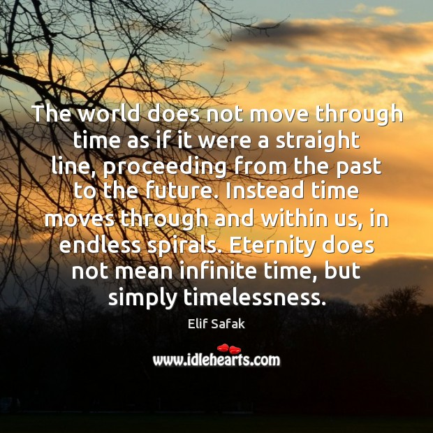 The world does not move through time as if it were a Image