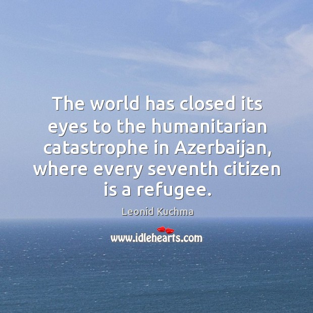 The world has closed its eyes to the humanitarian catastrophe in azerbaijan Image