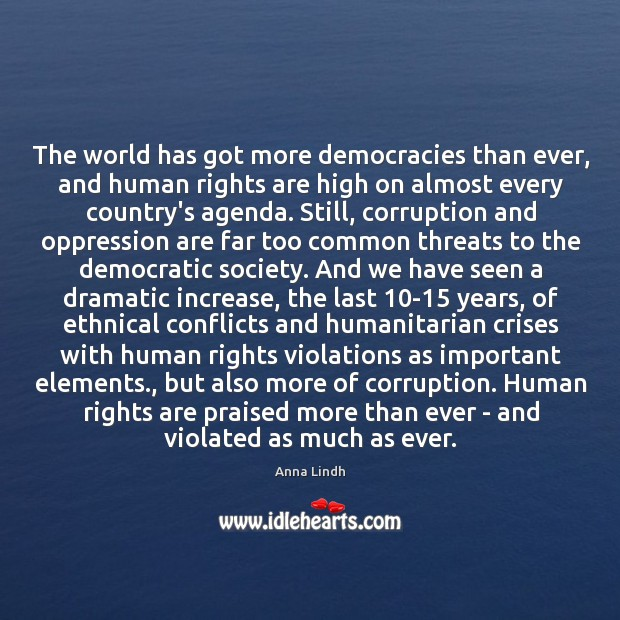 Image, The world has got more democracies than ever, and human rights are