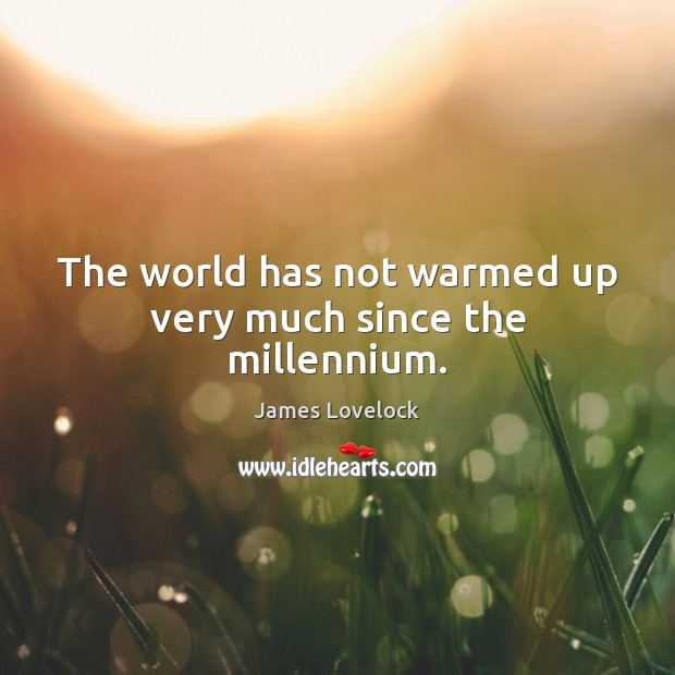 The world has not warmed up very much since the millennium. Image