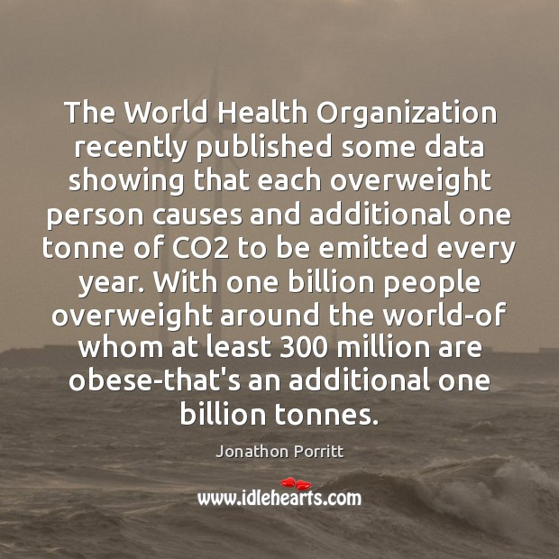 The World Health Organization recently published some data showing that each overweight Image