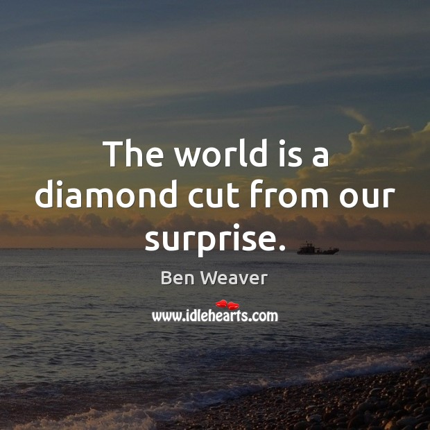 Image, The world is a diamond cut from our surprise.