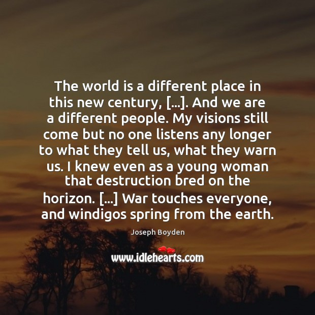 The world is a different place in this new century, […]. And we Image