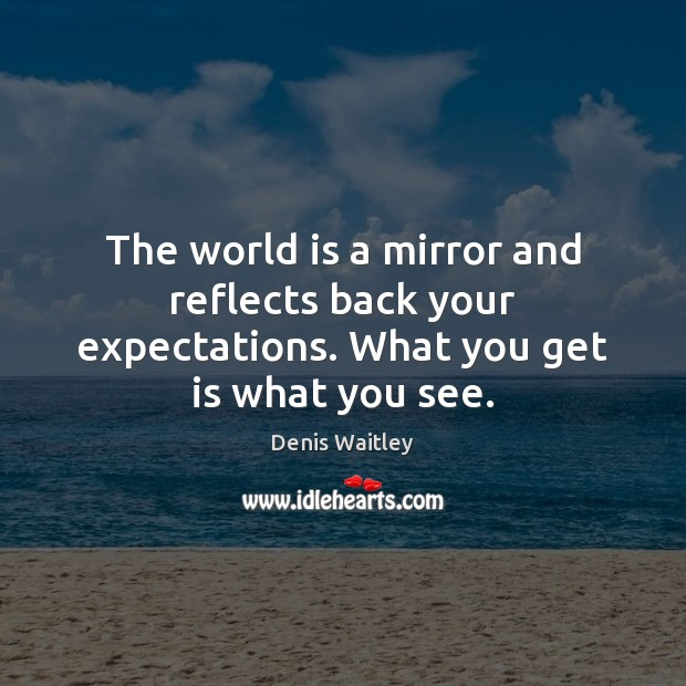 Image, The world is a mirror and reflects back your expectations. What you get is what you see.