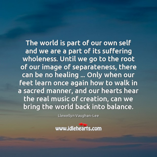 The world is part of our own self and we are a Llewellyn Vaughan-Lee Picture Quote