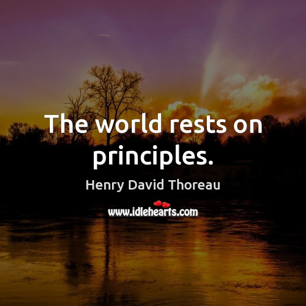 The world rests on principles. Image
