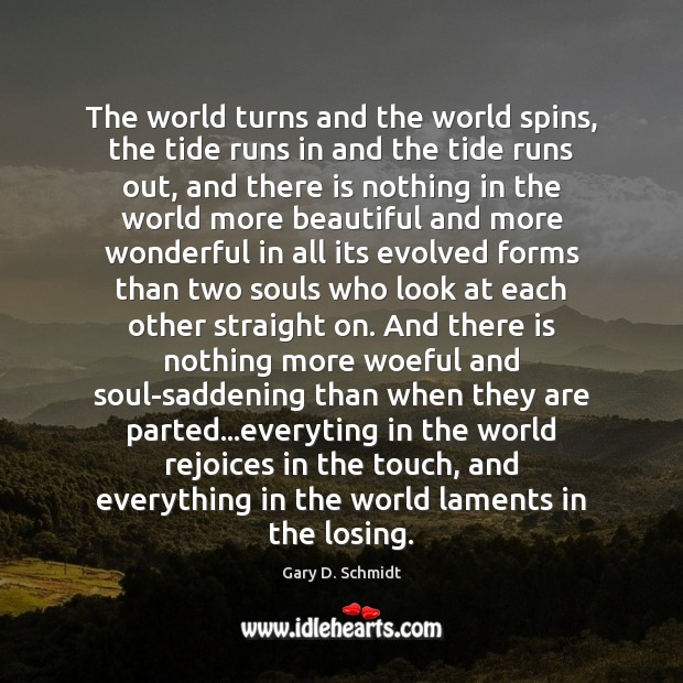 The world turns and the world spins, the tide runs in and Image