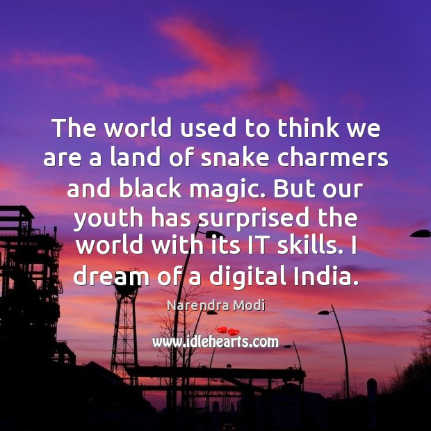 Image, The world used to think we are a land of snake charmers