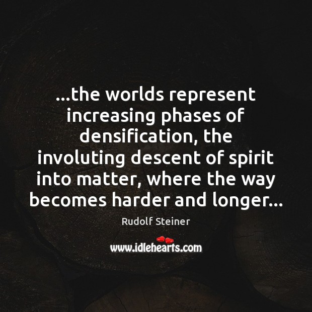 …the worlds represent increasing phases of densification, the involuting descent of spirit Image