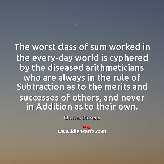 Image, The worst class of sum worked in the every-day world is cyphered