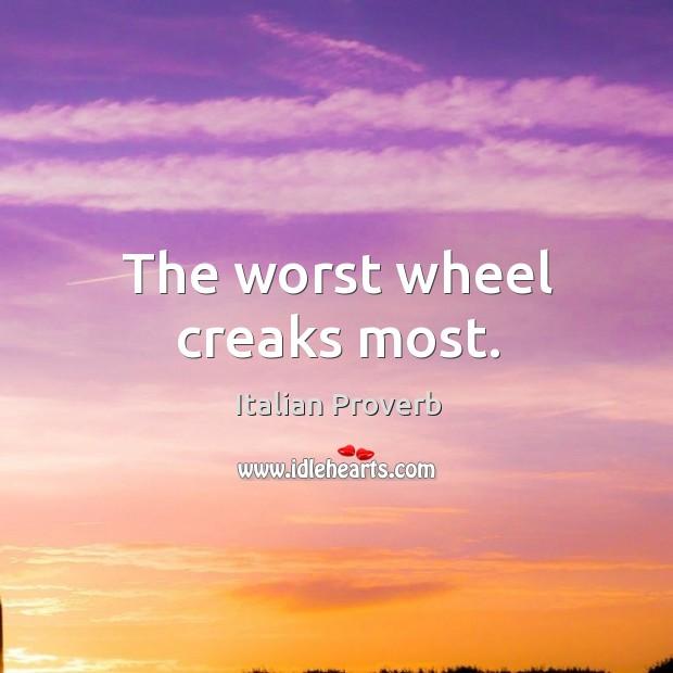 Image, The worst wheel creaks most.