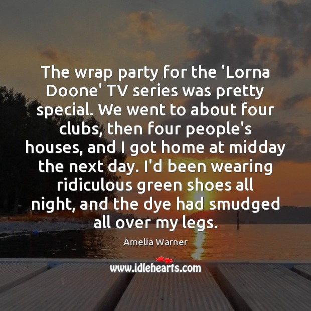 Image, The wrap party for the 'Lorna Doone' TV series was pretty special.