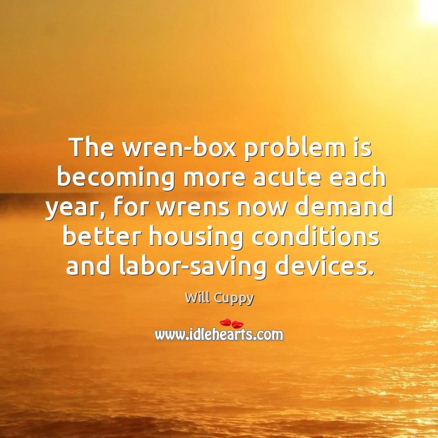 The wren-box problem is becoming more acute each year, for wrens now Image